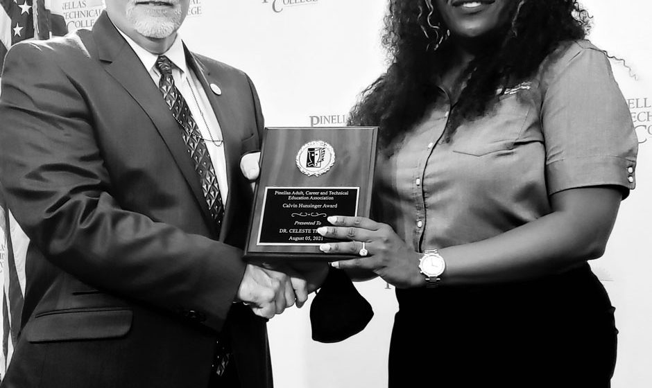 Dr. Thomas receives the Calvin Hunsinger Award.